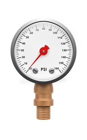 gas gauge: Pressure gauge isolated
