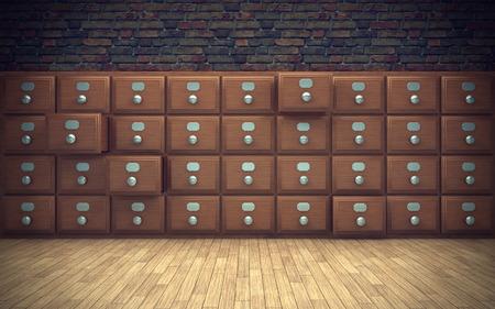 file cabinet: old file cabinet in room