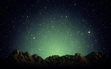 Nacht Himmel über Rocky mountains Hintergrund Standard-Bild - 39368462
