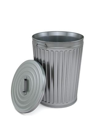 クリッピング パスと白で分離されたゴミ箱