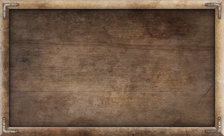 Old grunge wooden picture frame background