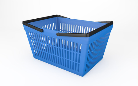 basket: Empty shopping basket isolated on white with clipping path
