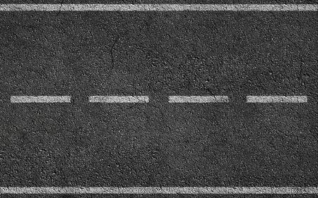白 Stripess のアスファルト道路のテクスチャ背景