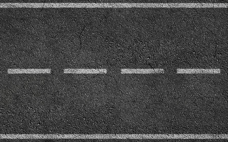 Blanc Stripess Sur Asphalt Road texture de fond Banque d'images