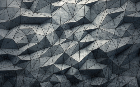 Abstract faceted geometric concrete background. 3d rendering Stockfoto
