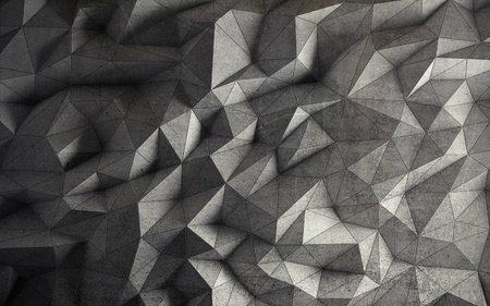 Abstract faceted geometric concrete background. 3d rendering Standard-Bild