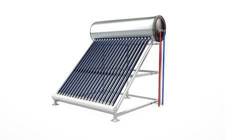 Solar water heater, alternative energy. 3d rendering