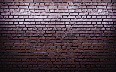 Glossy red brick wall texture. 3d rendering