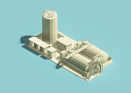 Oil plant icon isometric view. 3d rendering Standard-Bild