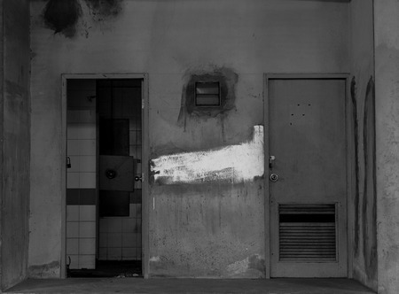 old spooky door photo & Abadoned Spooky House In Black And White Stock Photo Picture And ...