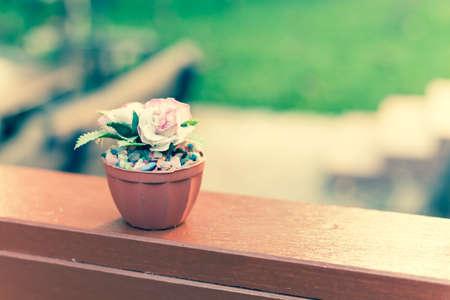 color tone:  rose decoration, vintage color tone