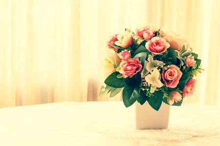 color tone: rose flower, vintage color tone Stock Photo