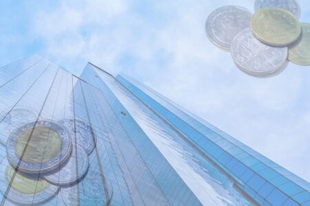 finance background: business skyscraper with finance background