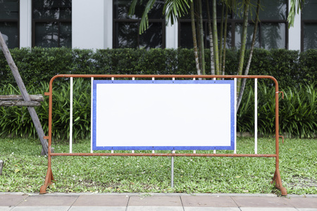 copyspace: blank board copyspace in natural garden