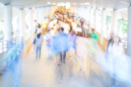 motion blur crowd walking