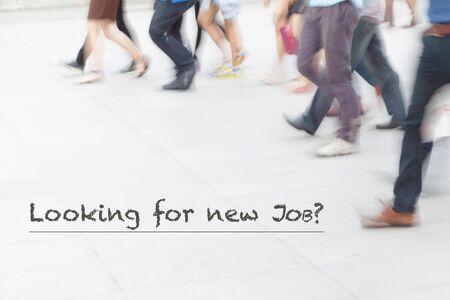 resource: motion blur people walking, human resource concept