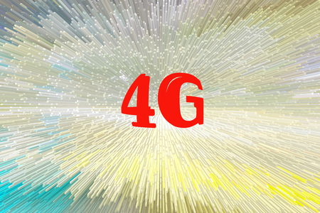 lte: abstract 3d block background, technology background, digital 4G LTE network communication