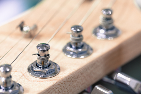 pickups: shallow dept of field, electric guitar Stock Photo