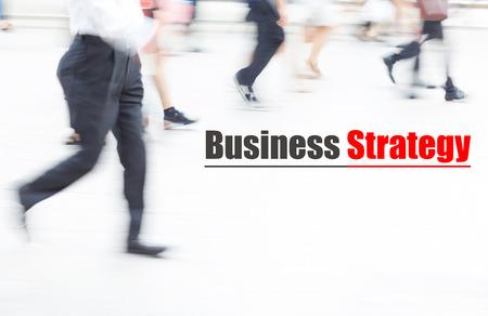 motion blur people walking, business management concept