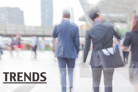 business trends: blur motion professional businessmen, trends, business management concept
