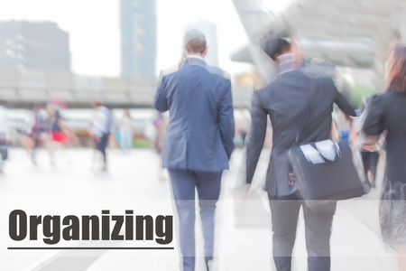organising: blur motion professional businessmen, organising, business management concept