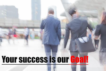 blur motion professional businessmen, XXX, business management concept Stock Photo
