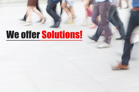 motion blur people walking, management concept Stock Photo
