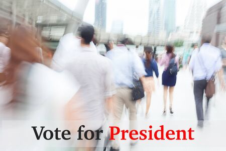 libertarian: motion blur people, election concept