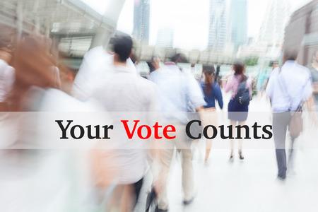 election debate: motion blur people, election concept