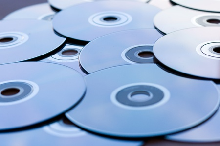 warez: A lot of CDs and DVDs on the table