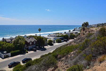 Homes along the coast in Malibu, California  photo