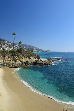 A view of Laguna Beach on a summer afternoon. Laguna is a beach community in Southern, California. photo