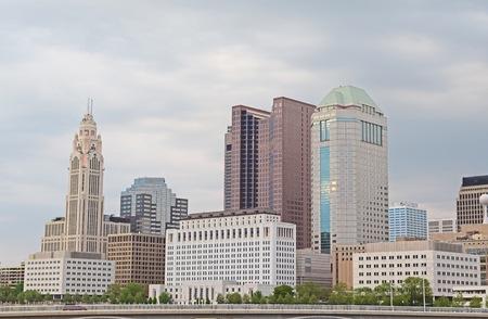 Downtown Columbus Ohio Skyline During the Springtime