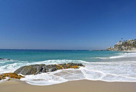 Thousands Steps Beach in Laguna Beach Southern California Reklamní fotografie
