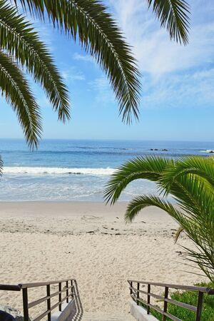 The entrance to Main Beach in Laguna Beach Southern California