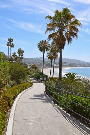 southern california: The entrance to Main Beach in Laguna Beach, Southern California Stock Photo