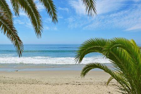 The entrance to Main Beach in Laguna Beach, Southern California Reklamní fotografie