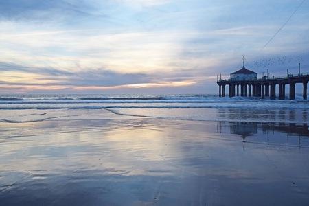 A gorgeous sunset in Manhattan Beach, Southern California Reklamní fotografie
