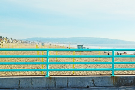 Manhattan Beach in Southern California during the late afternoon