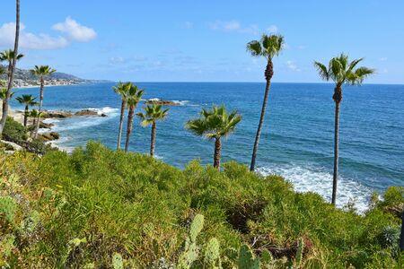 A view from beautiful Heisler Park in Laguna Beach. Laguna is a beach community in Southern California.