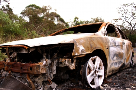 burnt out: Burnt Out Car