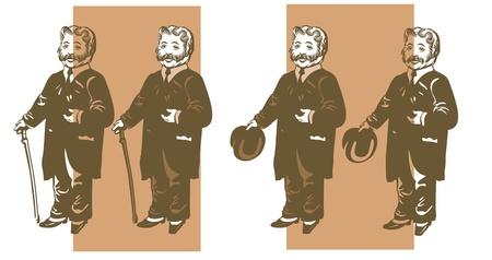 englishman: Victorian gentleman, englishman Illustration