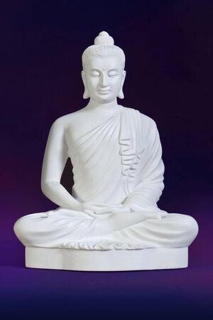Buddha carved from White marble photo