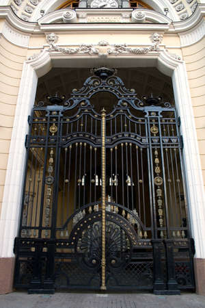 old wrought iron gate photo