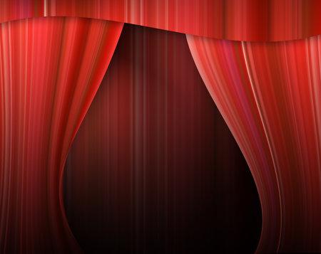 archiitecture: velvet theater courtains