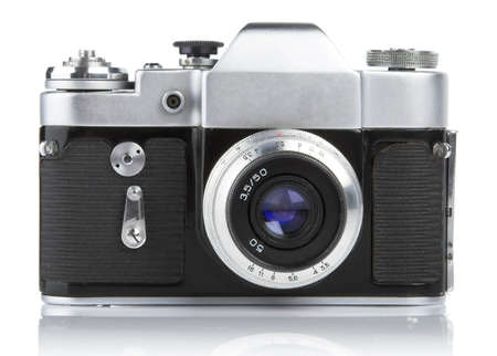 viewfinder vintage: An old fashioned, Russian 35mm camera