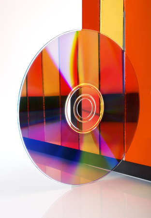 compact disk: Compact disk surface. High resolution. Stock Photo