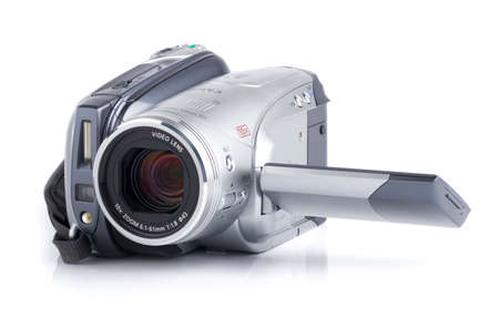 finder: HDV camcoder isolated on white background