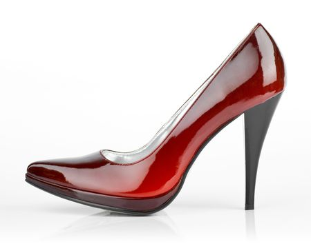 Woman shoes isolated on the white background 版權商用圖片