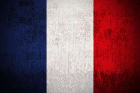 Weathered Flag Of France, fabric textured